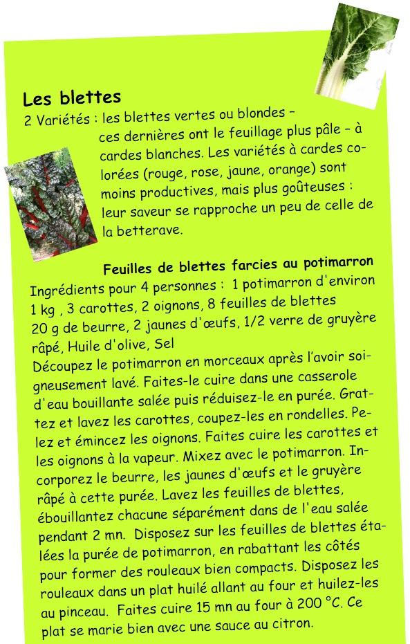 feuilles de blettes farcies au potimarron